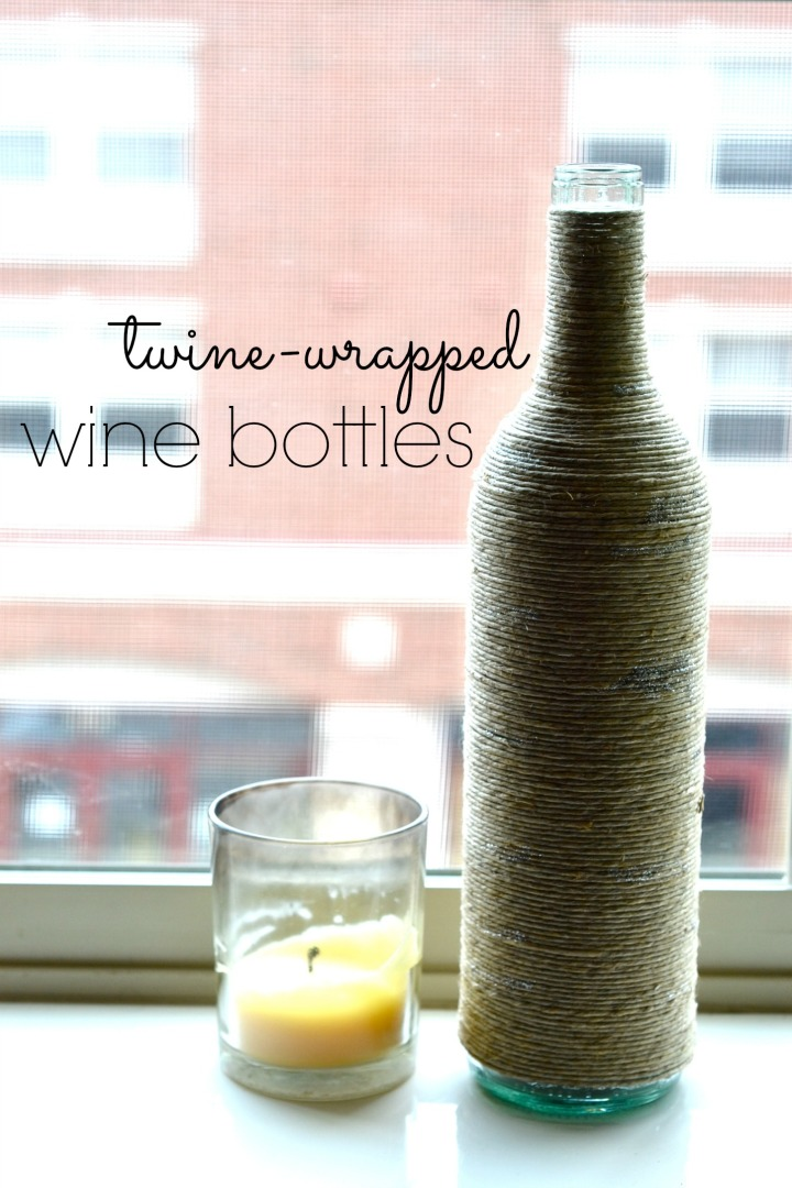 Twine-wrapped Wine Bottles
