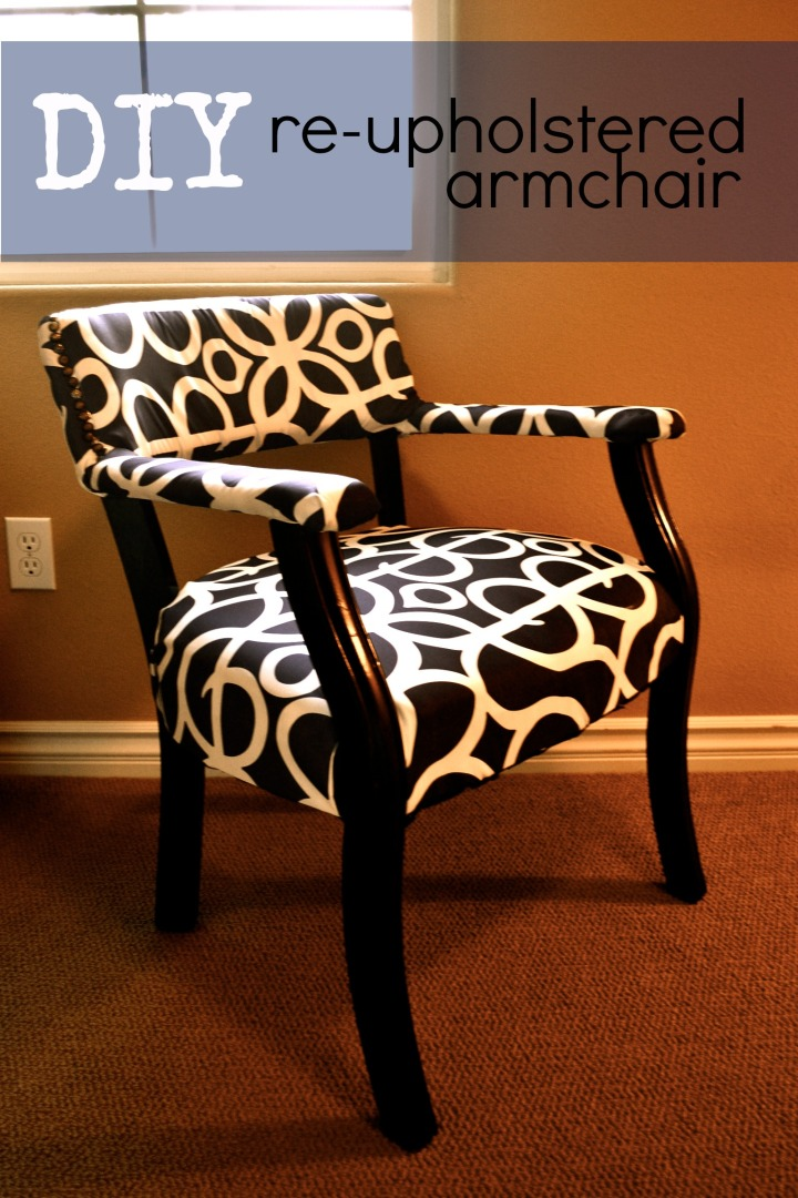DIY: Re-upholstered Armchair