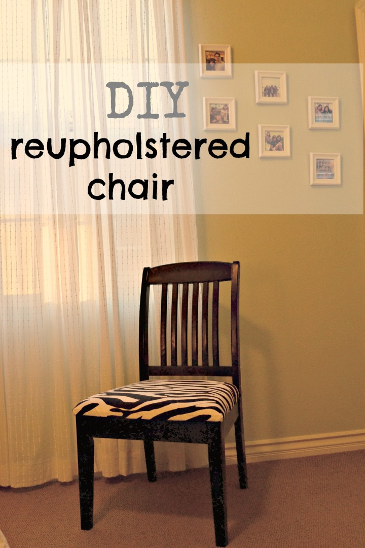 Re-Upholstered Chair: Zebra Edition