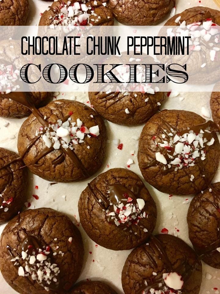 Chocolate Chunk PeppermintCookies