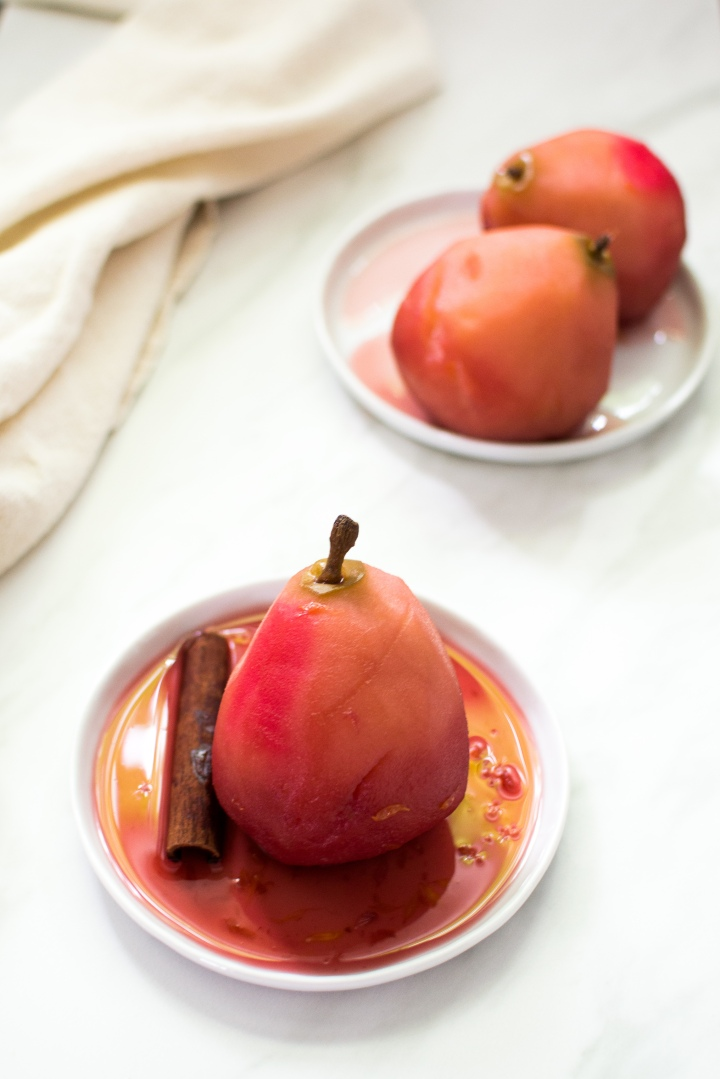 Red Wine PoachedPears