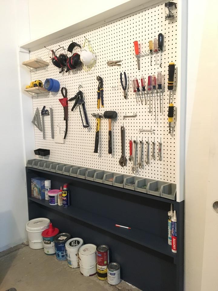 Garage Pegboard Organization