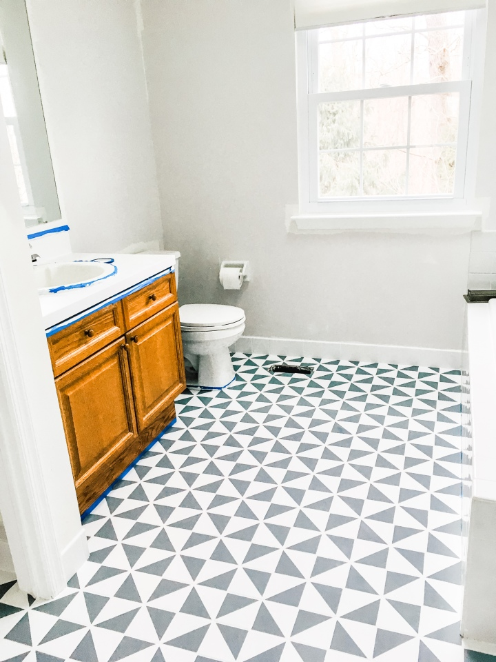 DIY Master Bedroom Refresh Pt. 1 – Painted Tile