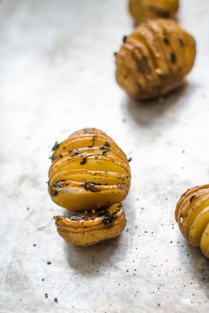 Baby Hasselback Potatoes