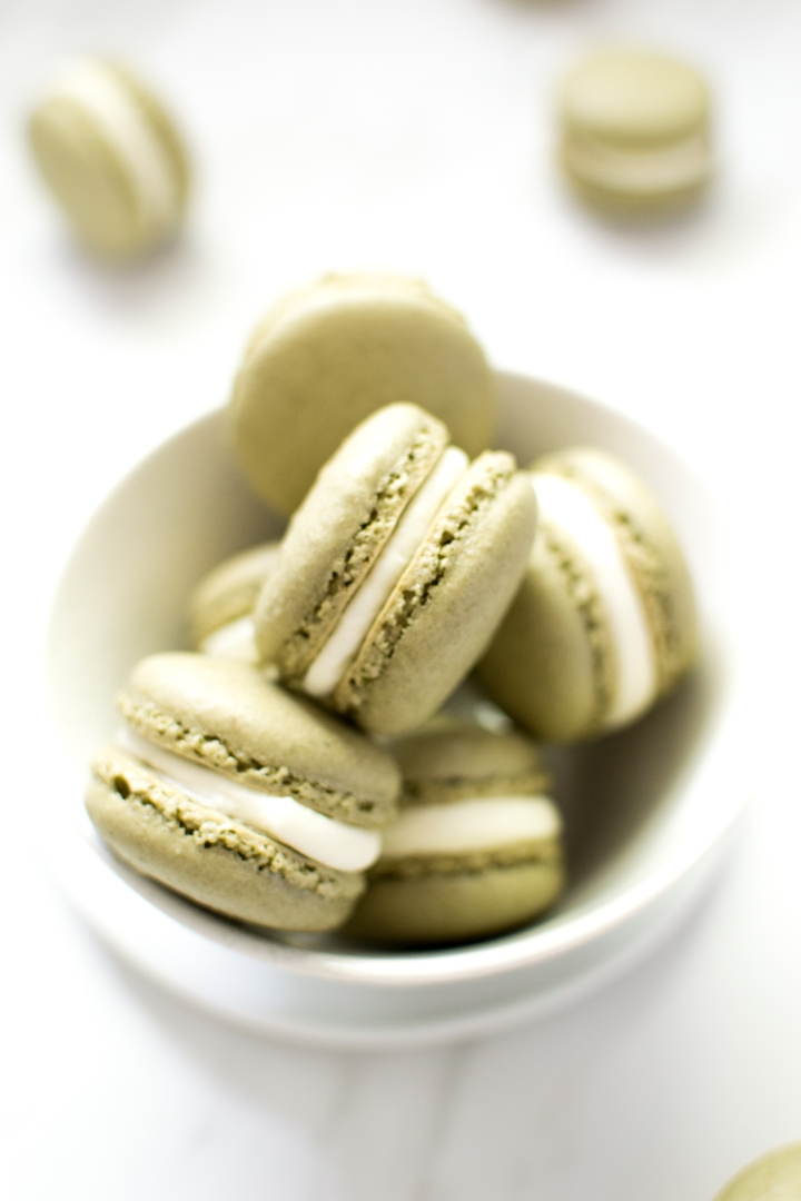 Matcha Latte Macarons
